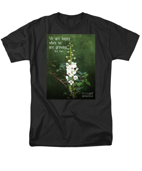 Men's T-Shirt  (Regular Fit) featuring the photograph Moth Mullein by Gena Weiser