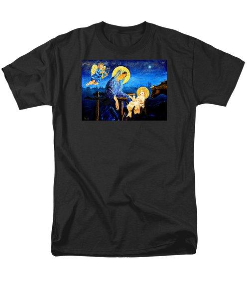 Men's T-Shirt  (Regular Fit) featuring the painting Motherhood by Henryk Gorecki