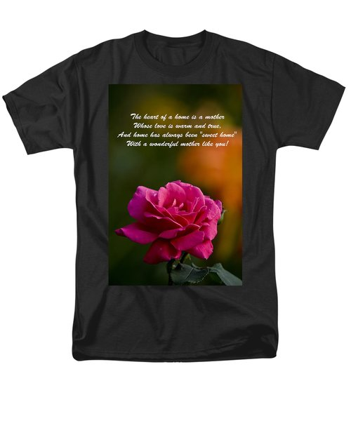 Men's T-Shirt  (Regular Fit) featuring the photograph Mother's Day Card 2 by Michael Cummings