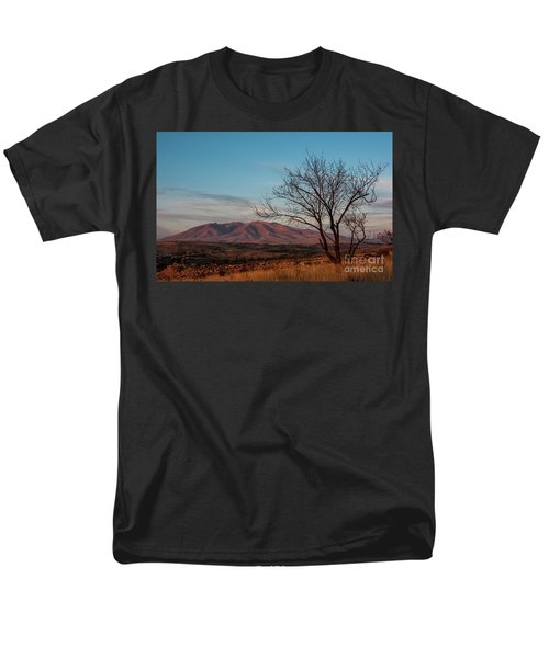 Mount Ara At Sunset With Dead Tree In Front, Armenia Men's T-Shirt  (Regular Fit) by Gurgen Bakhshetsyan