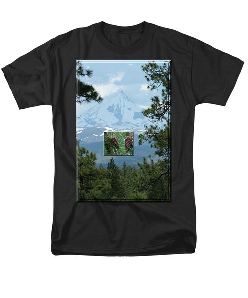 Mount Jefferson With Pines Men's T-Shirt  (Regular Fit) by Laddie Halupa