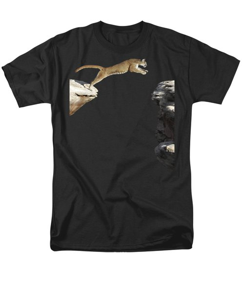 Mountain Lion Leaping Men's T-Shirt  (Regular Fit)