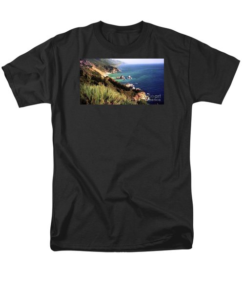 Mountain On Calif Pacific Ocean Men's T-Shirt  (Regular Fit) by Ted Pollard