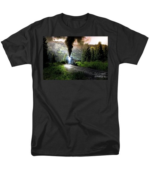 Men's T-Shirt  (Regular Fit) featuring the photograph Mountain Railway - Morning Whistle by Robert Frederick
