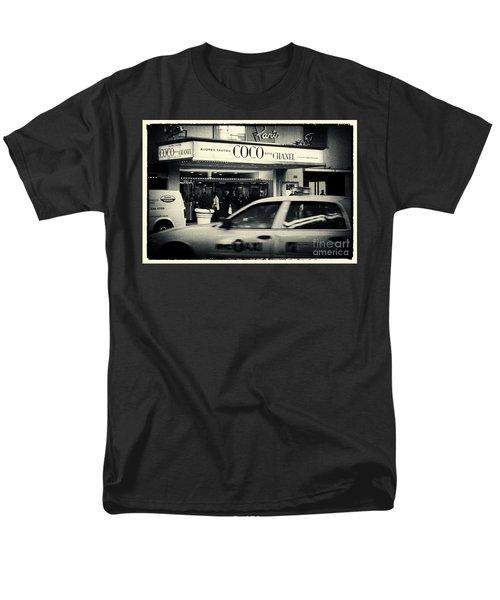 Movie Theatre Paris In New York City Men's T-Shirt  (Regular Fit) by Sabine Jacobs