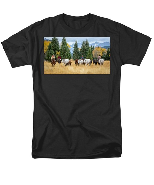Moving The Herd Men's T-Shirt  (Regular Fit) by Jack Bell
