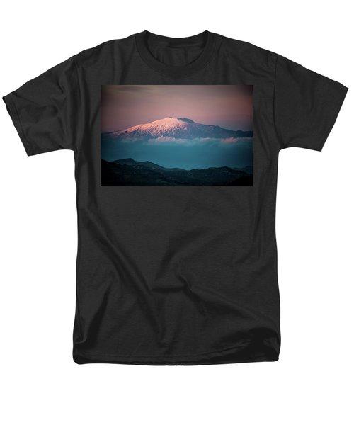 Mt. Etna II Men's T-Shirt  (Regular Fit)