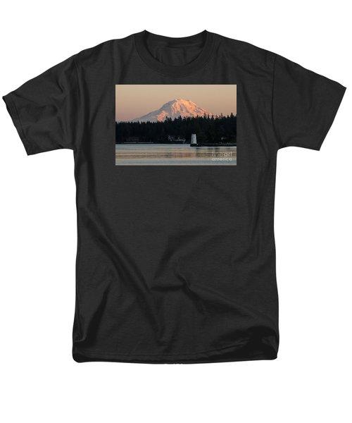 Mt Rainier Alpine Glow I Men's T-Shirt  (Regular Fit) by Chuck Flewelling