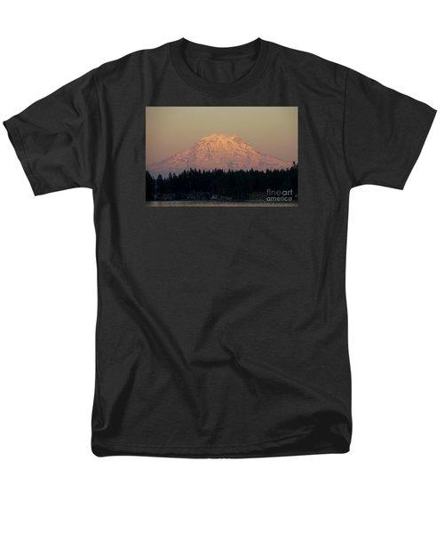 Mt Rainier Alpine Glow II Men's T-Shirt  (Regular Fit) by Chuck Flewelling