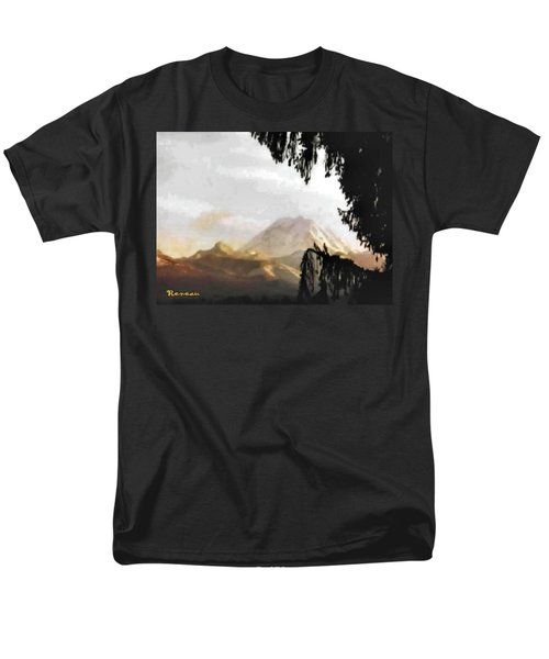 Mt. Rainier In Lace Men's T-Shirt  (Regular Fit) by Sadie Reneau