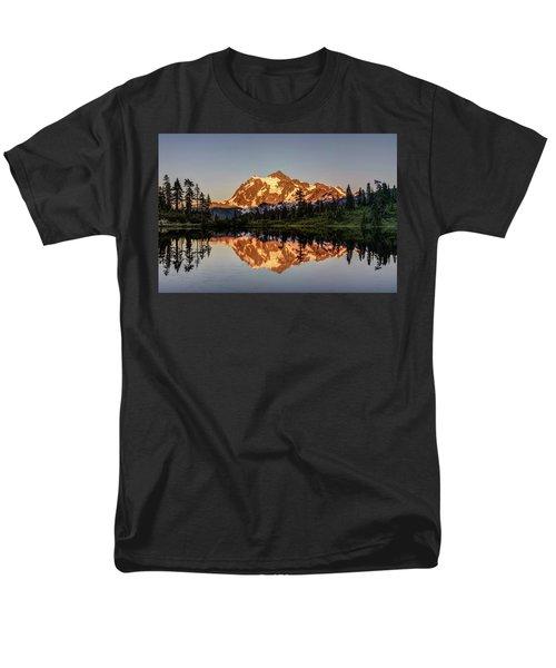 Mt Shuksan Reflection Men's T-Shirt  (Regular Fit) by Pierre Leclerc Photography