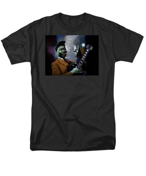 Men's T-Shirt  (Regular Fit) featuring the mixed media Muddy Waters - Mick Jagger's Grandfather by Dan Haraga