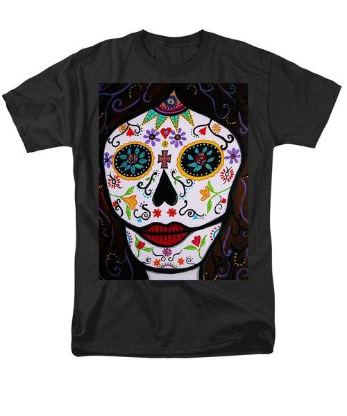 Men's T-Shirt  (Regular Fit) featuring the painting Muertos by Pristine Cartera Turkus