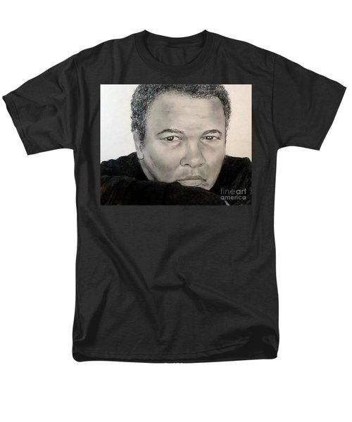 Men's T-Shirt  (Regular Fit) featuring the drawing Muhammad Ali Formerly Known As Cassius Clay by Jim Fitzpatrick