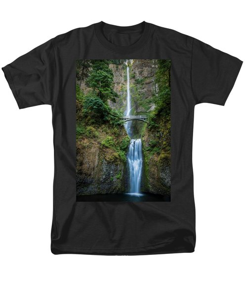 Multnomah Falls Men's T-Shirt  (Regular Fit) by Chris McKenna