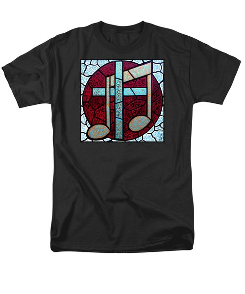 Men's T-Shirt  (Regular Fit) featuring the painting Music Of The Cross by Jim Harris