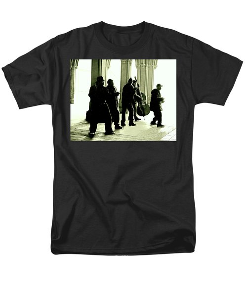 Men's T-Shirt  (Regular Fit) featuring the photograph Musicians In The Park by Sandy Moulder