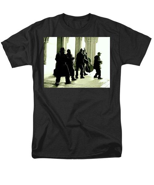 Musicians In The Park Men's T-Shirt  (Regular Fit) by Sandy Moulder