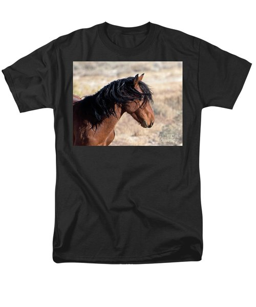 Men's T-Shirt  (Regular Fit) featuring the photograph Mustang by Lula Adams