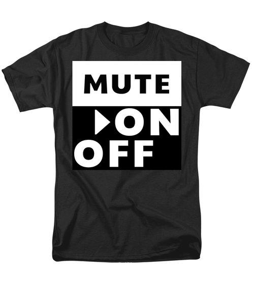 Mute On Off- Art By Linda Woods Men's T-Shirt  (Regular Fit) by Linda Woods