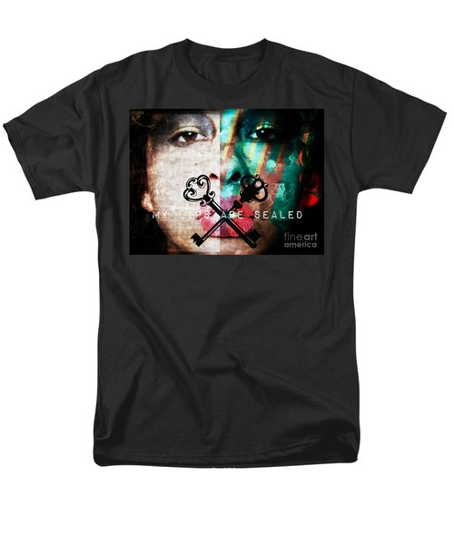My Lips Are Sealed Men's T-Shirt  (Regular Fit) by Jessica Shelton