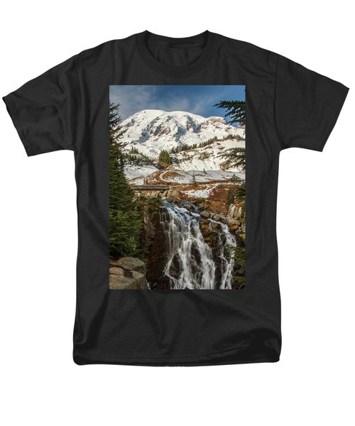 Myrtle Falls, Mt Rainier Men's T-Shirt  (Regular Fit) by Tony Locke