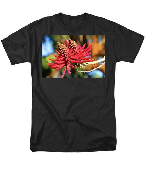 Naked Coral Tree Flower Men's T-Shirt  (Regular Fit) by Mariola Bitner