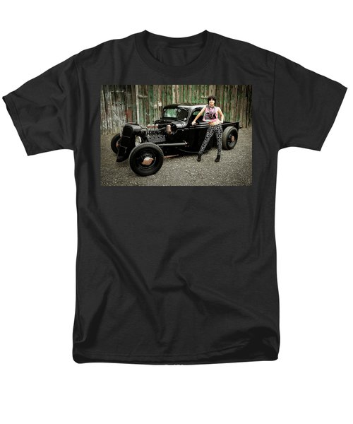 Nancy V Men's T-Shirt  (Regular Fit) by Jerry Golab