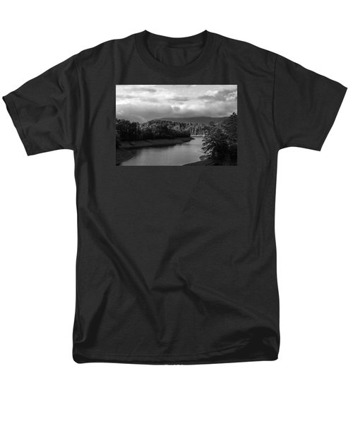 Nantahala River Blue Ridge Mountains Men's T-Shirt  (Regular Fit) by Kelly Hazel