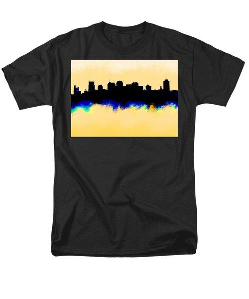 Nashville  Skyline  Men's T-Shirt  (Regular Fit) by Enki Art