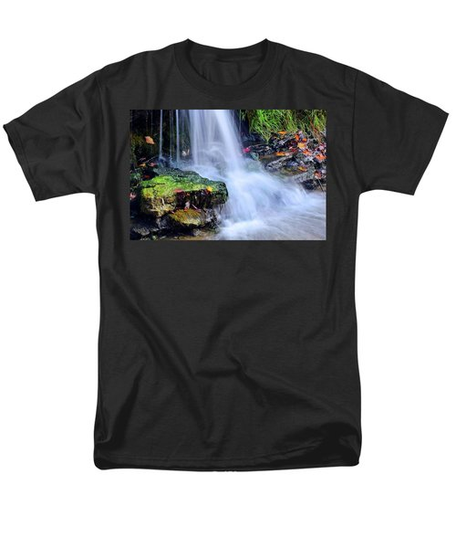 Men's T-Shirt  (Regular Fit) featuring the photograph Natural Flowing Water by Frozen in Time Fine Art Photography