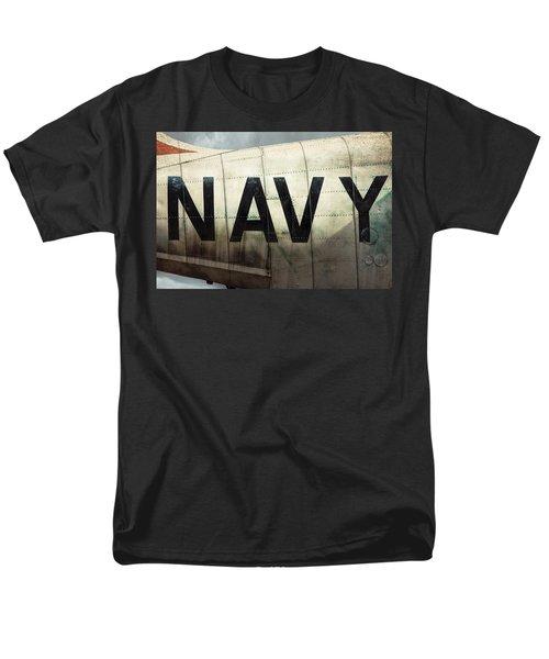 Men's T-Shirt  (Regular Fit) featuring the photograph Navy - Kaman K-16b Experimental Aircraft by Gary Heller