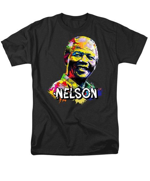 Nelson Mandela Madiba Men's T-Shirt  (Regular Fit) by Anthony Mwangi