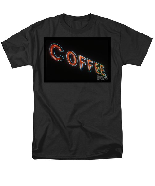 Men's T-Shirt  (Regular Fit) featuring the photograph Neon Coffee by Jim and Emily Bush