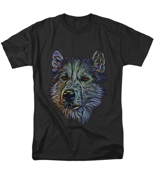 Men's T-Shirt  (Regular Fit) featuring the photograph Neon Husky by Brian Cross