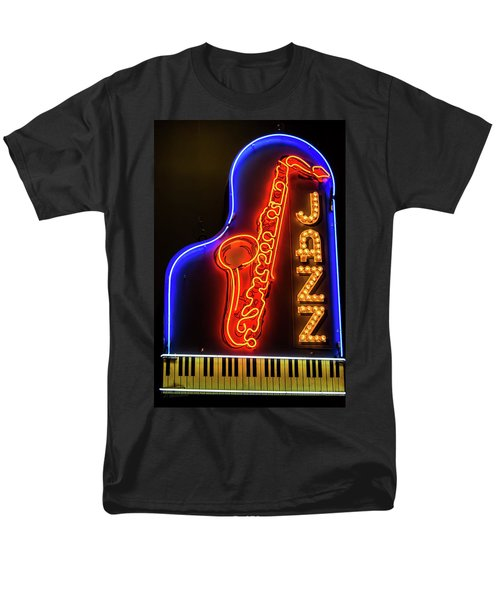 Neon Jazz Men's T-Shirt  (Regular Fit) by Pamela Williams