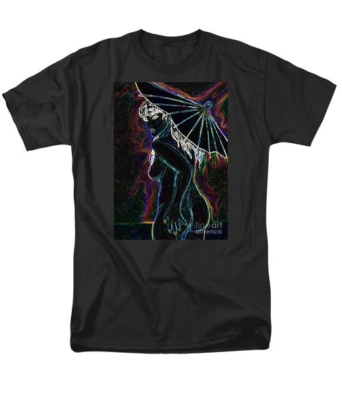 Men's T-Shirt  (Regular Fit) featuring the painting Neon Moon by Tbone Oliver
