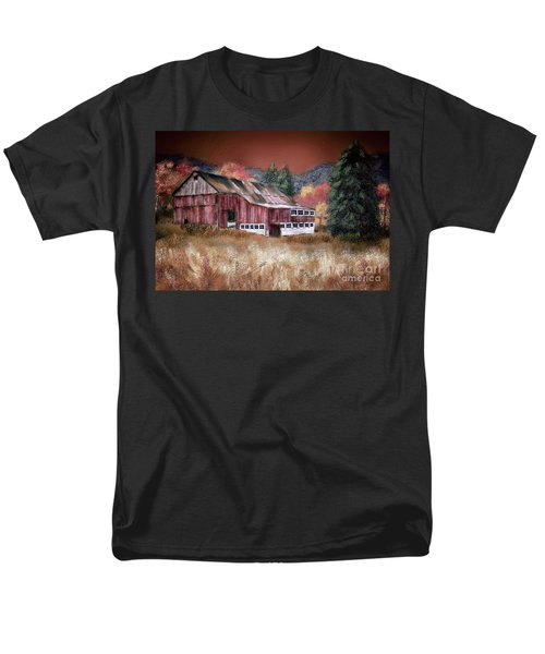 Men's T-Shirt  (Regular Fit) featuring the digital art Nestled In The Laurel Highlands by Lois Bryan