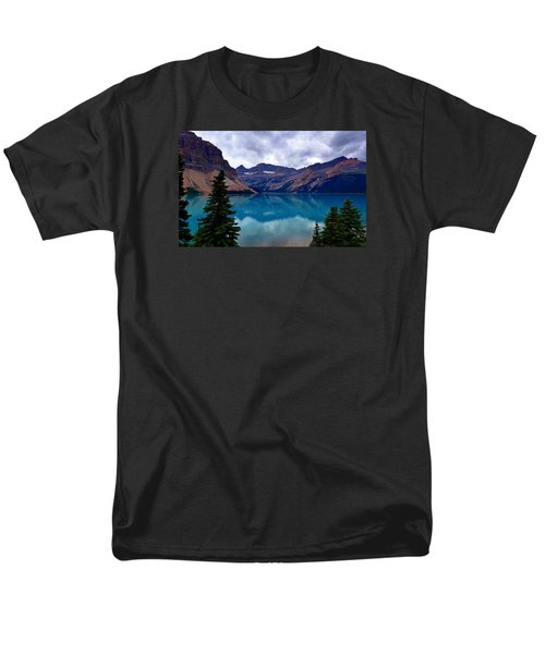 Bow Lake, Banff, Ab  Men's T-Shirt  (Regular Fit) by Heather Vopni