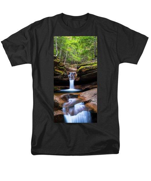 New Hampshire Sabbaday Falls And Fall Foliage Panorama Men's T-Shirt  (Regular Fit) by Ranjay Mitra