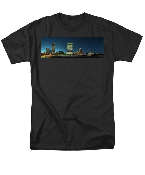 Men's T-Shirt  (Regular Fit) featuring the photograph New Milwaukee Skyline by Randy Scherkenbach