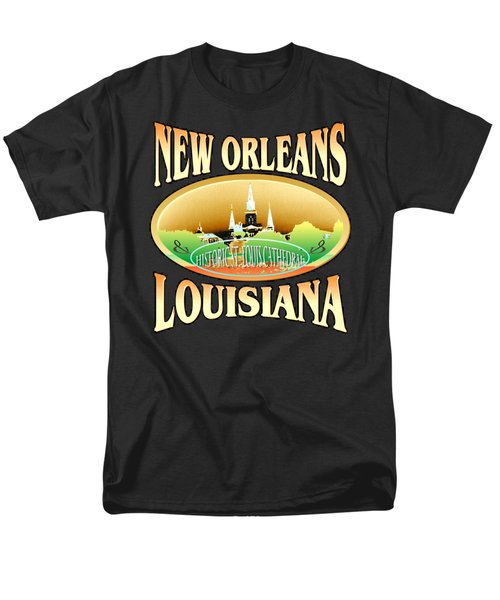 New Orleans Louisiana Tshirt Design Men's T-Shirt  (Regular Fit) by Art America Gallery Peter Potter