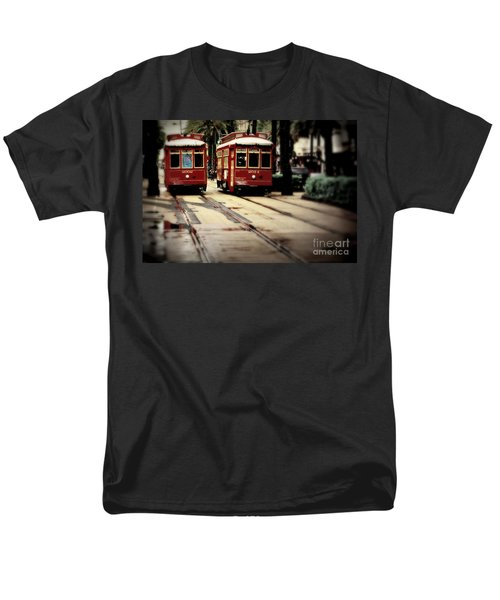 New Orleans Red Streetcars Men's T-Shirt  (Regular Fit) by Perry Webster