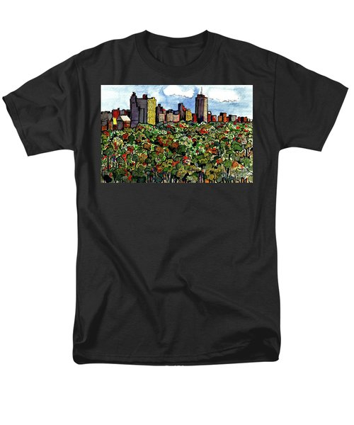 Men's T-Shirt  (Regular Fit) featuring the painting New York Central Park by Terry Banderas