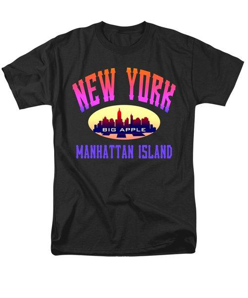 New York Manhattan Island Design Men's T-Shirt  (Regular Fit)