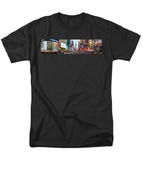 New York Times Square Panorama Men's T-Shirt  (Regular Fit) by Kasia Bitner