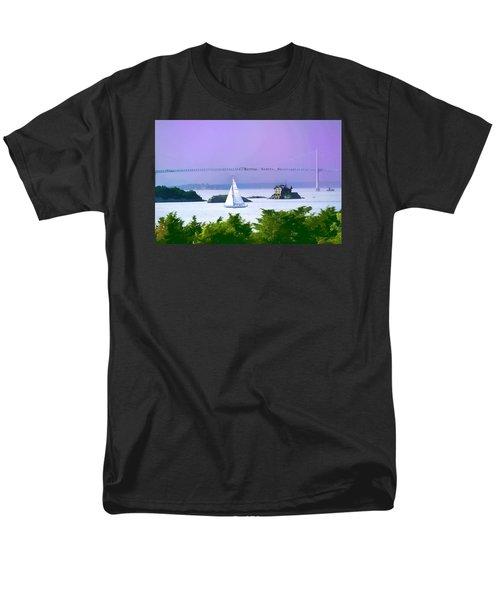Newport Water Color Effect Men's T-Shirt  (Regular Fit) by Tom Prendergast