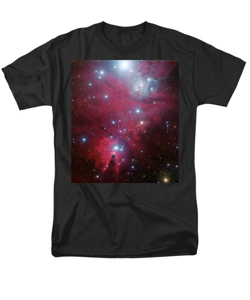 Men's T-Shirt  (Regular Fit) featuring the photograph Ngc 2264 And The Christmas Tree Star Cluster by Eso