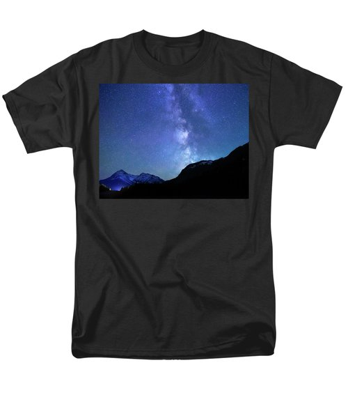 Men's T-Shirt  (Regular Fit) featuring the photograph Night Sky In David Thomson Country by Dan Jurak