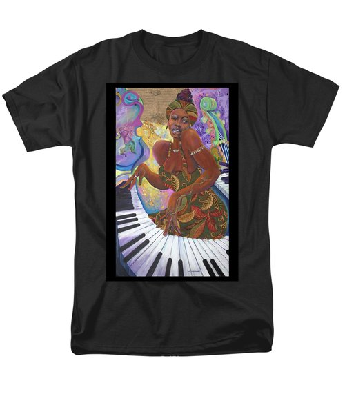 Nina Simone Men's T-Shirt  (Regular Fit) by Lee Ransaw